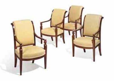 a_set_of_four_empire_mahogany_fauteuils_circa_1810 copy